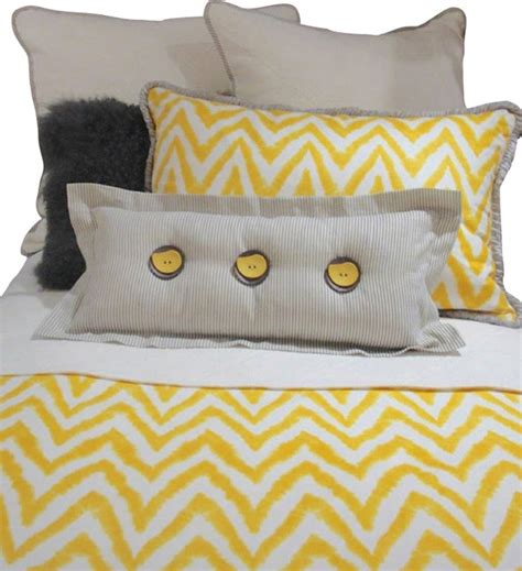 yellow twin bedding twin gray yellow and white chevron bedding and pillow