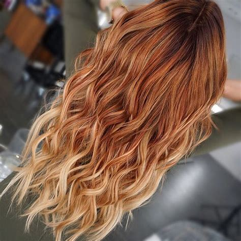 ombre hair technique blonde with red ends 724 best hair styles images on pinterest
