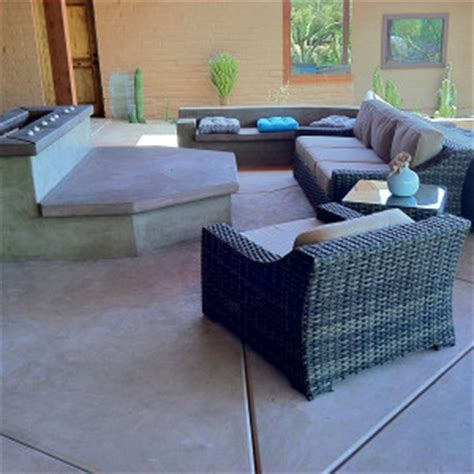 concrete benches tucson landscaping tucson photo gallery kmac landscaping