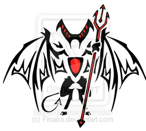 devil tribal tattoo tribal design by finaira on deviantart