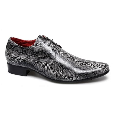 rossellini brenzone mens faux snakeskin shoes black buy
