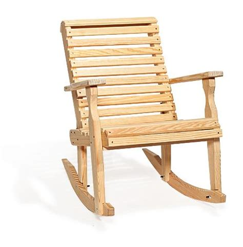 Patio Rocking Chairs Wood Amish Pine Wood Roll Back Patio Rocking Chair