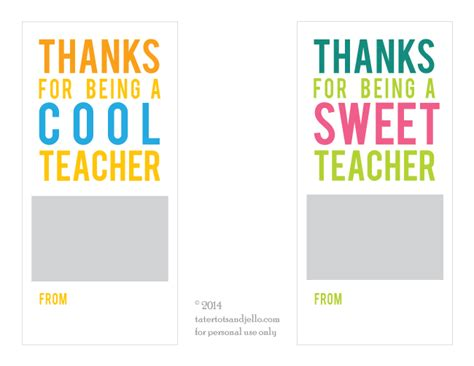 Teacher Appreciation Gift Card Holder Printable - best photos of sweet teacher printable sweet thankful for teachers like you