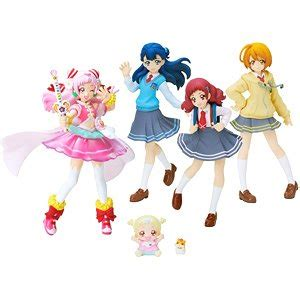 Pretty Cure Figure Set 3 hugtto precure cutie figure 2 special set shokugan