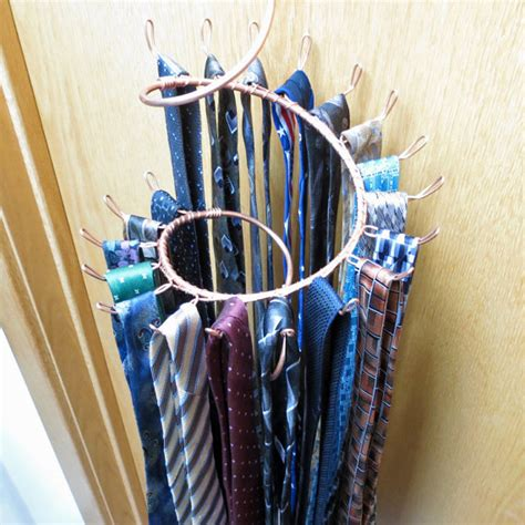 tie rack hook spiral copper wall rack tie hanger