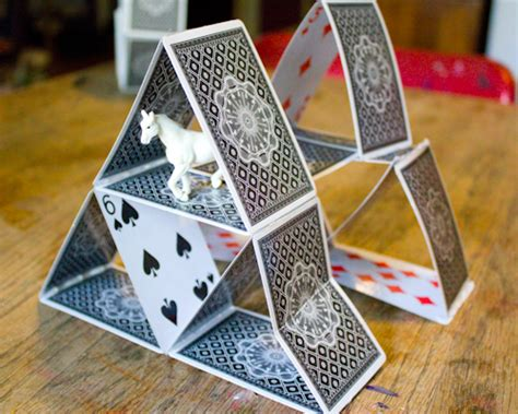 how to make house of cards 5 ways to upcycle cards crafting a green world