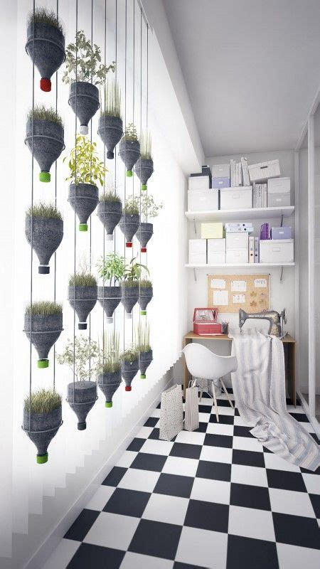 Screen Wall Vertikultur modern hanging plants wall from recycled plastic bottles