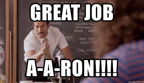 great job   ron substitute teacher nerdfone meme