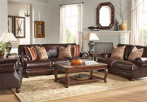 room to go for kentfield brown 2 pc leather living room leather living rooms brown
