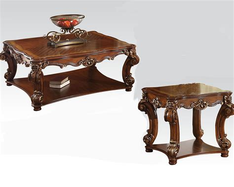 Cherry Coffee Table Sets Traditional Coffee Table Set Vendome Cherry By Acme Ac82002set