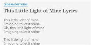 lyrics this light of mine quot this light of mine quot lyrics by cedarmont this