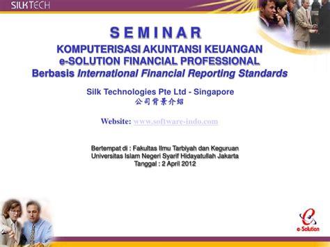 software akuntansi esolution ifrs sertif internasional