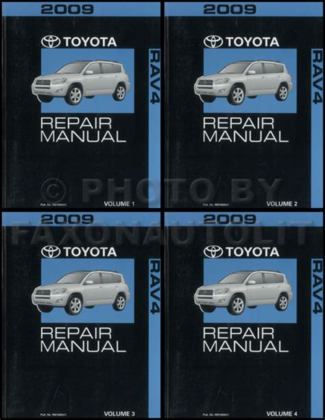free online auto service manuals 2009 toyota rav4 security system 2009 toyota rav4 repair manual 4 volume set rav oem shop service books original ebay