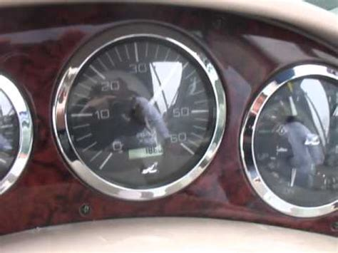 sea ray boat gauges 2003 sea ray 280 sundancer run engine test with gauges