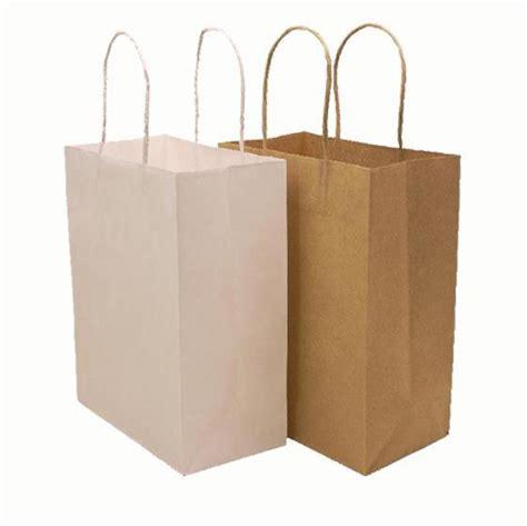 Paper Bag Kraft Besar 25x9x32 Cm free shipping 21 15 8cm 10pcs lot white brown kraft paper bag with handle gift paper bags