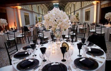black and white table setting 58 black and white wedding table settings