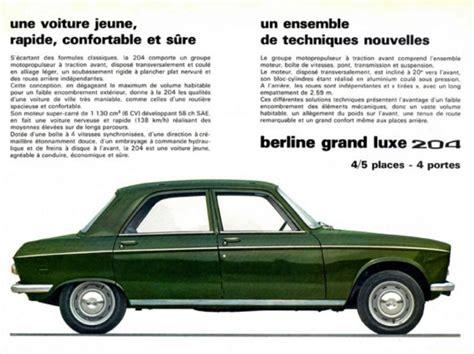 peugeot france price list en images la peugeot 204 f 234 te ses 50 ans 1965 2015