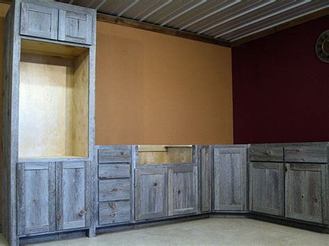 Redwood Cabinets Kitchen Weathered Gray Barn Wood Kitchen Barn Wood Furniture