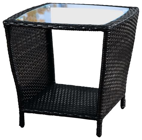 outdoor accent table easton outdoor wicker accent table black contemporary