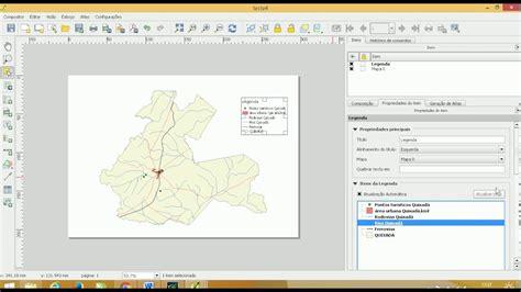 layout with qgis layout qgis norte legenda escala e grade de coordenadas