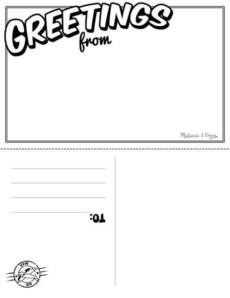 Post Card Templates Scouts by Travel Postcard Pen Pal Projects For Printables