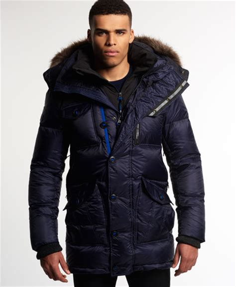 Jaspria Jas Exclusive Blue Navy mens atmosphererix parka jacket in navy