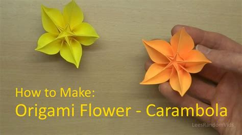 How To Make A Flower In A Paper - how to make origami flower carambola