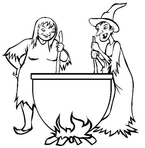 witch cauldron coloring page free coloring pages of witches halloween