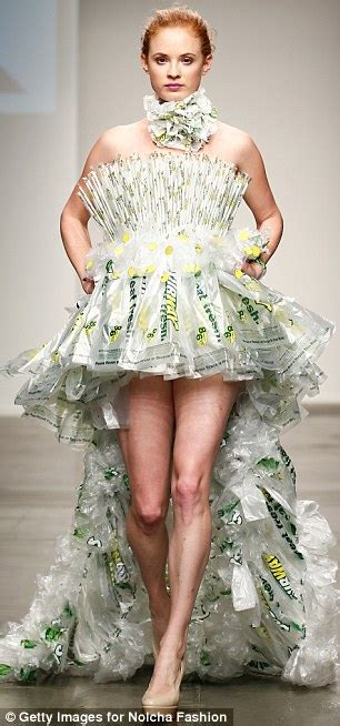 Be Discovered In Glams Design A Dress Contest by Subway Wrapper Dresses Appear In Nyfw Collection For