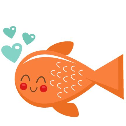 valentines day fish fish svg scrapbook cut file clipart files