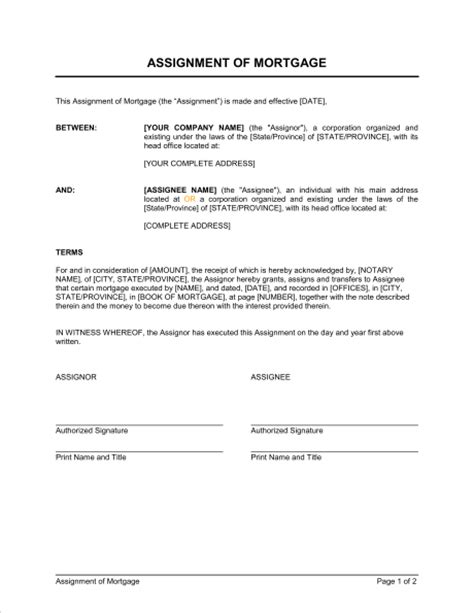 Mortgage Deed Form Free Printable Documents Mortgage Deed Template