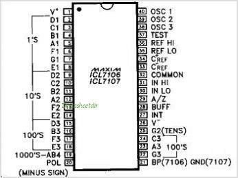 Icl Led Silicon icl 7107