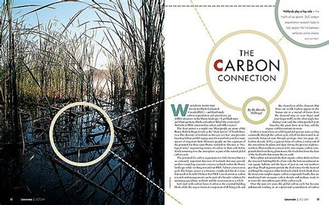 magazine photo layout ideas magazine layout the carbon connection opening two page