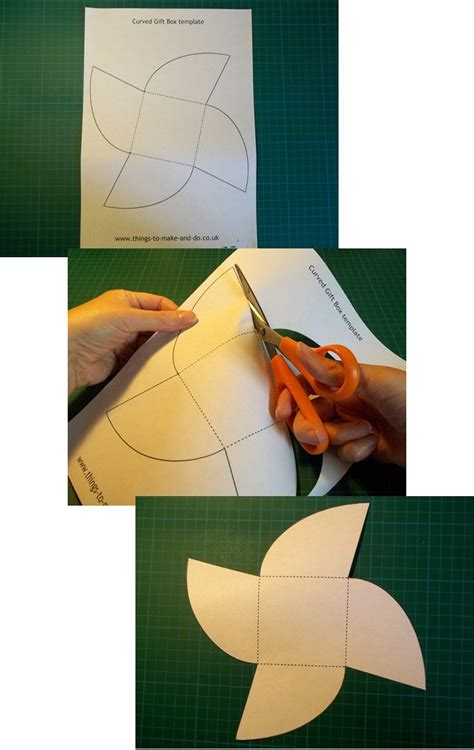 How To Make A Paper Gift Box Step By Step - things to make and do make and decorate a curved gift box