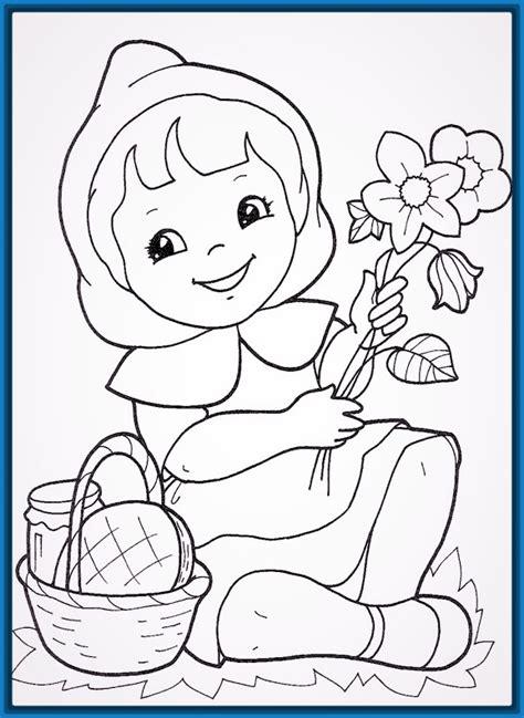 imagenes de otoño para niños dibujo de una nia para colorear trendy dibujo de una nia