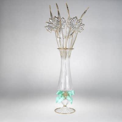 vaso con fiori vaso con fiori e foglie vetrart snc