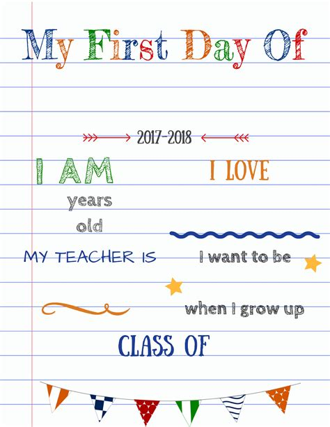day of school template editable day of school signs updated version with a