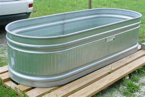 galvanized horse trough bathtub photo of galvanized water trough farmhouse design and