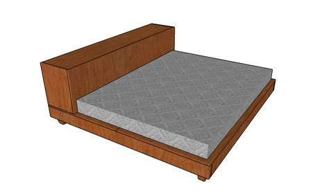 platform bed frame plans platform storage bed plans howtospecialist how to