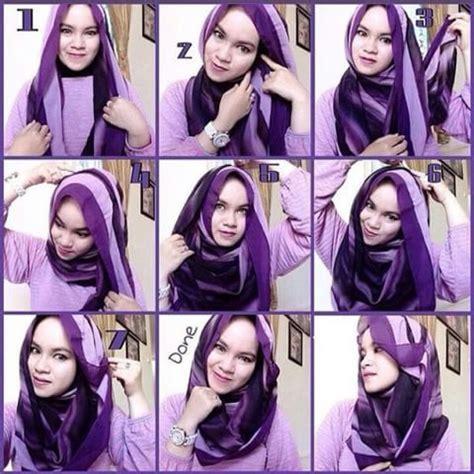 Tutorial Jilbab Kusut | tutorial cara memakai kerudung dengan mudah jilbab instan