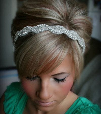 hairstyles with jeweled headband 11 best images about wedding hair accessories on pinterest