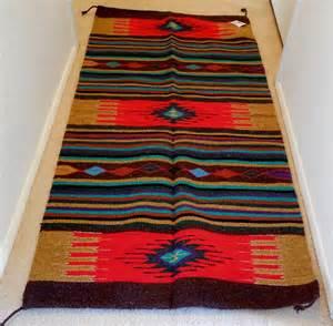 handwoven acryllic rug 32x64 southwest design santa fe