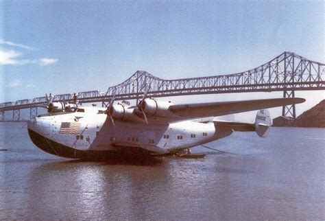 pan am flying boat a panam boeing b314 flying boat moored at treasure island