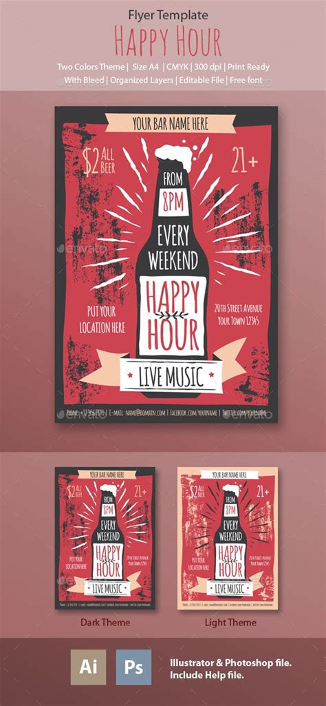 Happy Hour Flyer Template Flyer Template Happy Hour And Psd Templates Happy Hour Flyer Template Free