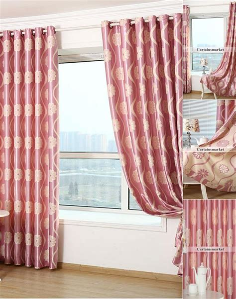 pink thermal curtains lovely floral bedroom jacquard pink thermal curtains