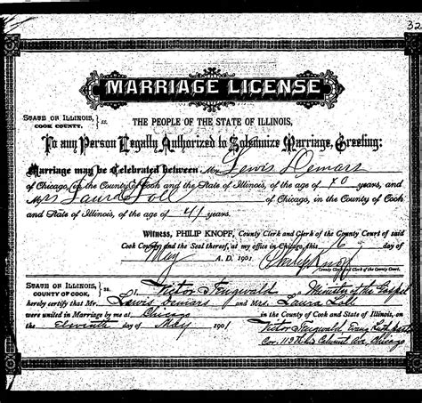 What If Marriage License Was Never Recorded Rootdig Some Chicago Marriage Licenses On Family