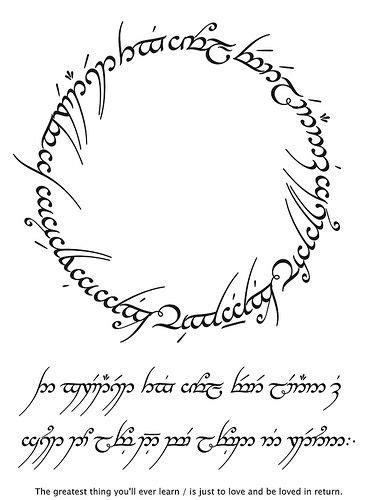 tattoo fonts elvish tengwar fonts tattoos tattoos lotr fonts