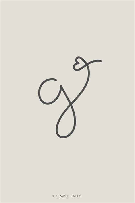 tattoo of alphabet g if i ever got a tattoo i would totally do something like