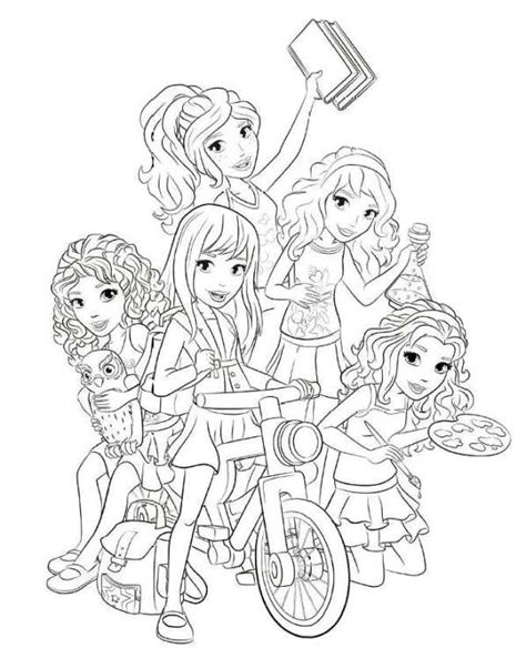 free girl lego friends coloring pages