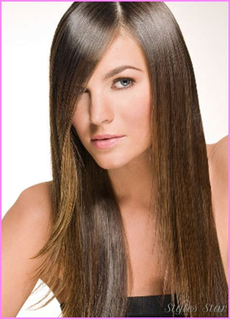hairstyles for long hair straight bangs long haircut ideas with side bangs stylesstar com